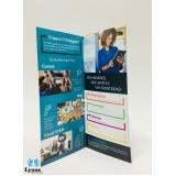 empresa de criação e impressão de folders no Aeroporto
