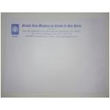 envelope branco personalizado no Sacomã