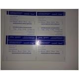 etiqueta adesiva transparente preço em Santo Amaro