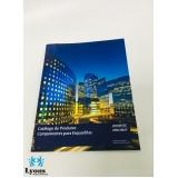 impressão catalogo de produtos Água Funda