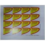 impressão de etiqueta adesiva preço Interlagos