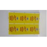 quanto custa etiqueta adesiva transparente no Ipiranga
